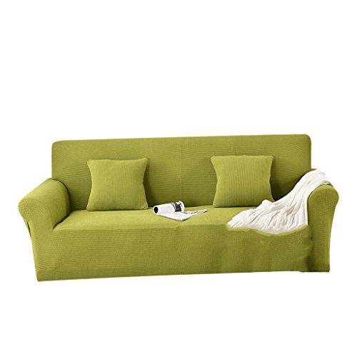 Grünes Stoff Sofa Couch (LOVIVER Sofa 2 Sitzschonbezug Stretch Waffel Stoff Sofa Couch Protector - lebhaftes Grün)