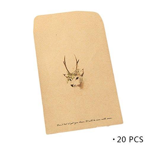 -Farbe Kraftpapier Hirsch drucken Weihnachtsgrußkarte Thanksgiving Urlaub Grußkarte Gedenkkarte Farbe C ()