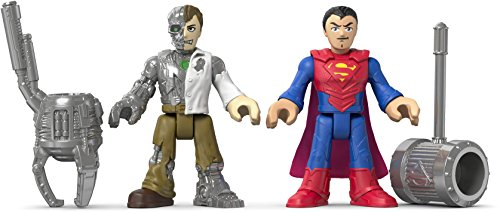 Fisher-Price – Imaginext – DC Super Friends – Superman & Mettalo – 2 Mini Figurines + Accessoires