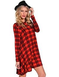 So in Fashion Robe trapèze en tartan 8 couleurs - Laurel