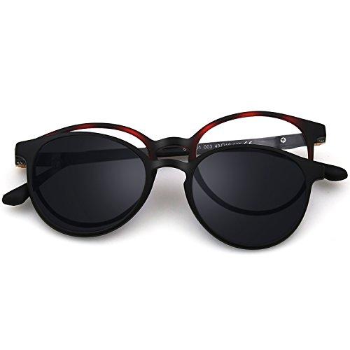 2 in 1 clip magnetica su occhiali da sole per occhiali da vista uomo flessibile ultem montatura tonalità polarizzati per occhiali da donna