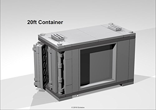 20ft Container For Standard Trolleys Lego Moc Instructions Ebook E
