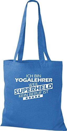 Stoffbeutel Ich bin Yogalehrer, weil Superheld kein Beruf ist Royal