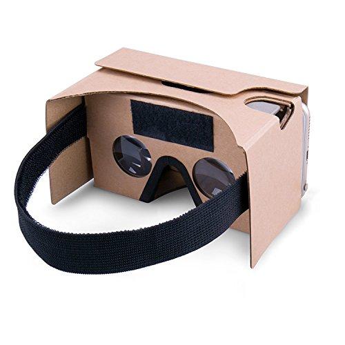 Foto Google Cardboard kit V2.0 , Potok Google cartone V2.0 Occhiali 3D Virtual Reality Kit fai da te 3D realtà virtuale compatibile con Android & APPLE, più confortevole e più chiara (giallo)