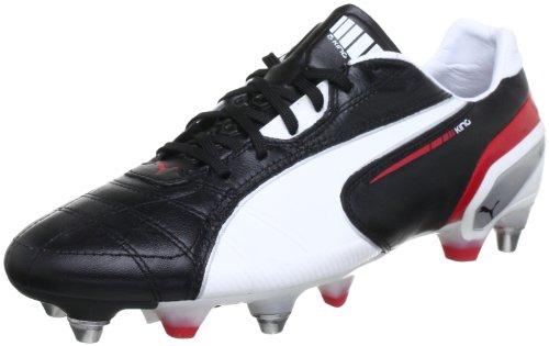 Puma King Mixed SG 102668, Herren Fußballschuhe, Schwarz (black-white-ribbon red 02), EU 41 (UK 7.5) (US 8.5)