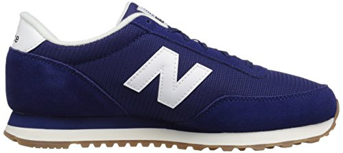 New Balance Mens 501 Running Classics Suede Trainers dunkelblau - weiß