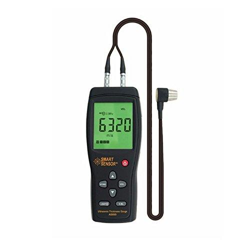 Digital Coating Thickness Gauge Tester Lcd-Digital-Ultraschall-Stärken-Messgerätprüfvorrichtung AS850 1.2 bis 220MM Schallgeschwindigkeits-Meter für Stahlaluminiumplatte Professional Paint Meter Data (Tester Paint Thickness)