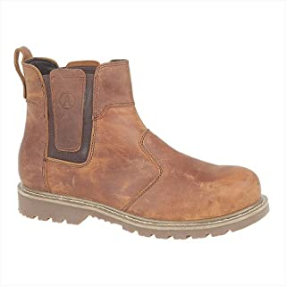 Amblers Steel FS165 Mens Safety Work Boots - Brown - Size UK 9