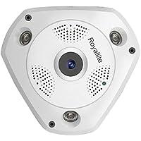 Royallite 1-MP Fisheye 360° Panoramic Wireless WiFi HD IP CCTV Security Camera with SD Card Slot