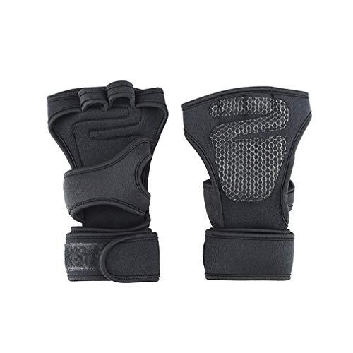 TianranRT 1 Paar Sport Kreuz Training Handschuhe Rutschfest Handfläche Silikon Gewicht Heben Handschuhe (XL)
