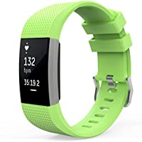 MoKo Soft Silicone Adjustable Replacement Sport Strap Band for Fitbit Charge 2 Smartwatch Heart Rate Fitness Wristband.