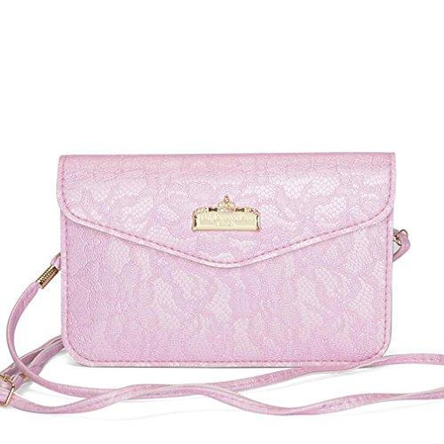 HQYSS Borse donna Stile semplice borsa a tracolla portafoglio borsa pacchetto telefono , black purple