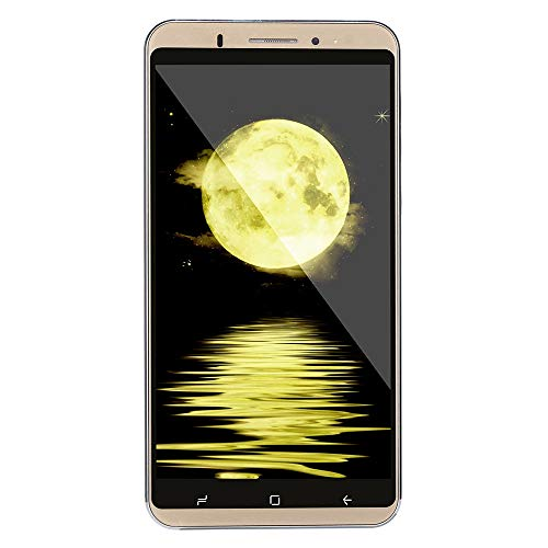 Oasics Smartphone 6,0 Zoll Doppel-HDCamera Smartphone Android IPS-Full-Bildschirm GSM/WCDMA 8 GB Touchscreen WiFi Bluetooth GPS 3G Anruf-Handy (Gold)