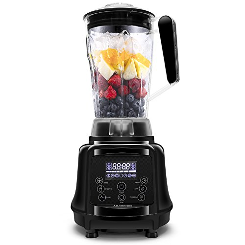 Commercial Blender Aimores For Smoothie Pre Programmedpulsespeed Control 28000 Rpmsled Touch Screen 64oz Big Glass Pitcher With Grinder Recipe Book