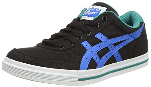 Asics Aaron GS, Sneaker, Unisex-bambino Black/Mid Blue 9042