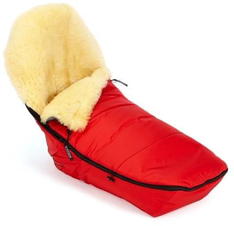 Kaiser 6510533 - Fußsack für Marke Bugaboo Cameleon, Lammfell medizin, Farbe: rot