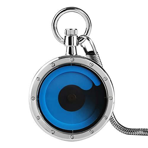 Quarz-Taschenuhr mit Wirbel-Zifferblatt, Quarzuhrwerk, Einzigartige Pendeluhr