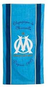 """Drap de sport / Serviette de plage OM - Football - OLYMPIQUE DE MARSEILLE - Modèle """" maillot """" - 75 x 150 cm"""