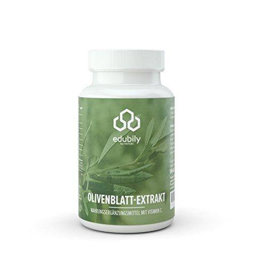Olivenblattextrakt Kapseln mit Vitamin C ohne Zusatzstoffe, 700 mg OLE mit 140 mg Oleuropein pro Kapsel hochdosiert, ohne Magnesiumstearat, 90 Kapseln