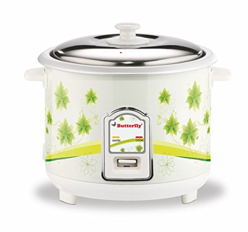 BUTTERFLY JADE ELECTRIC RICE COOKER 1.8L WHITE