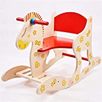 TGETBTTSR Rocking Horse Rocking Horse Wooden Baby Educational Toys 1-5 Years Old Gift Rocking Chair