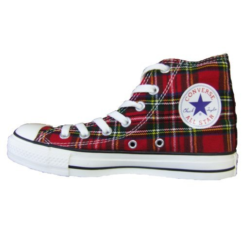 Converse All Star Schottenmuster Ska Chucks Red / Tartan HI 1Q455 Grösse 36 (UK: 3,5) ...