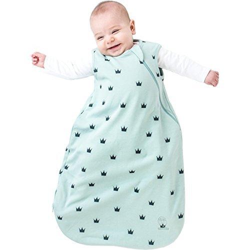Woolino Baby-Schlaf Tasche 4 Jahreszeiten grundlegende Merino Wolle Baby-Schlafsack 18-36 Monate Kronen (Luxuriöse Bett-tasche)