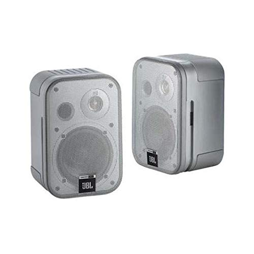 JBL Control One Robuster Kompakter Regallautsprecher Satellitenlautsprecher Studio-Monitor-Lautsprecher (1 Paar) schwarz…