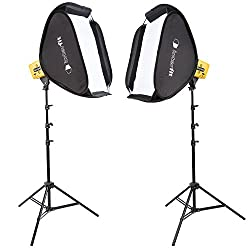 Interfit Honey Badger 320w Compact Studio Flash 2 Light Pop Up Softbox & Lighting Stand Kit- Hb3202k1