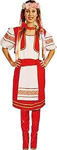 Déguisement De Femme Russe Rouge Taille M