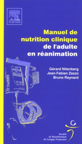 Manuel de nutrition clinique de l'adulte en réanimation: POD