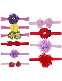 ☀☀Pantalones para Bebés Niña,10 Unids Kids Floral Diadema Hair Girls Bebé Bowknot Accesorios Hairband Set