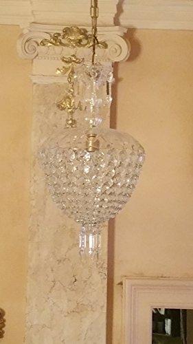 antiker Kronleuchter, Lüster, Lampe, antique chandelier C02