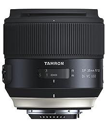 Tamron SP35mm F/1.8 Di VC USD Nikon Objektiv (67mm Filtergewinde, fest) schwarz