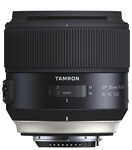 Tamron SP35mm F/1.8 Di VC USD Nikon Objektiv (67mm Filtergewinde, fest) schwarz (85 Festbrennweite Nikon)