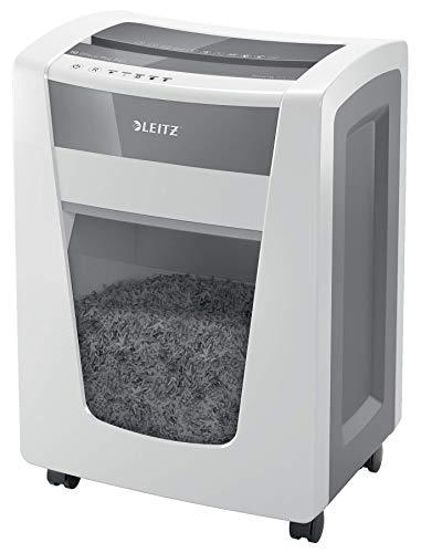 Leitz 80101000 IQ Office Pro P6+ - Destructora de corte supermicro, destruye 5 hojas a la vez, papelera de 30 L, blanco