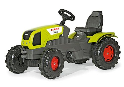 Rolly Toys 601042 rollyFarmtrac Claas Axos 340 | Trettraktor mit Motorhaube zum Öffnen, Sitzverstellung | Traktor mit Flüsterreifen, Funktionszubehör nachrüstbar | ab 3 Jahren | Farbe grün