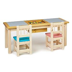 Priko 2-Sitzer Kinder Spieltisch mit integriertem Aufbewahrungsfach | Made in EU