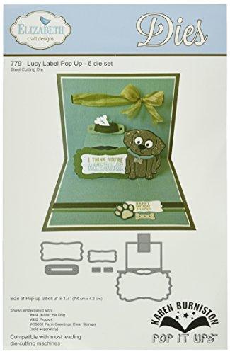 Elizabeth Craft Pop su stampi metallici da Karen Burniston-Lucy etichetta Pop-Up