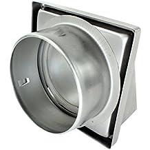 """SPARES2GO acero inoxidable capucha externa Extractor pared de ventilación de salida con espuma tipo Retorno trampilla (150 mm, 6 """")"""