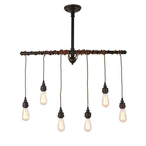 Decorazione domestica illuminazione e27 vintage 6-lights steampunk tubo di acqua lampada a sospensione, d'antiquariato del metallo in ferro battuto lampadario, soggiorno camera da letto sala da pranzo