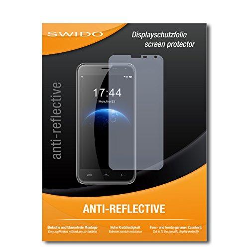 SWIDO Schutzfolie für Homtom HT3 Pro [2 Stück] Anti-Reflex MATT Entspiegelnd, Hoher Härtegrad, Schutz vor Kratzer/Bildschirmschutz, Bildschirmschutzfolie, Panzerglas-Folie