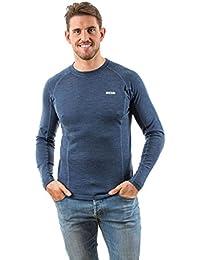 EDZ Men's Merino Wool Long Sleeve Base Layer Top