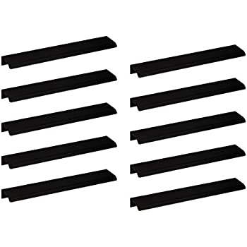 Moderner M/öbelgriff K/üche Griffleiste Edelstahl schwarz matt Design Schubladengriff mit Harpunen-Steg Profilgriff mit L/änge 346 mm K/üchengriff Aluminium f/ür Schubladen AG10011 1 St/ück