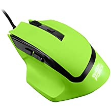 Sharkoon SHARK Force - Ratón (USB, Óptico, Juego, Verde, mano derecha, Monótono)