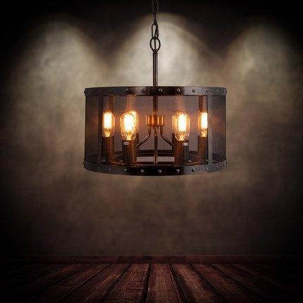 RBB Personalisierte dekorative Beleuchtung Mai Beleuchtung Retro Industriekran Eisen Nostalgie Restaurant Amerikanischen Land Kunst Bar Bar Café Anhänger 650 * 940 Mm