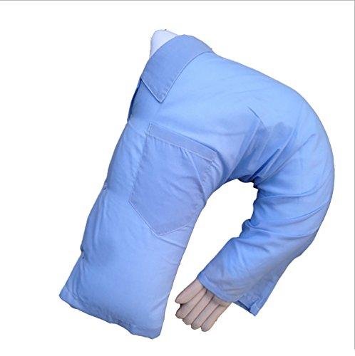 Novio brazo cuerpo almohada nueva mano con forma de lujo, nuevo novio brazo soporte de lujo de almohada de apoyo almohada, cama resto almohada, Cielo azul