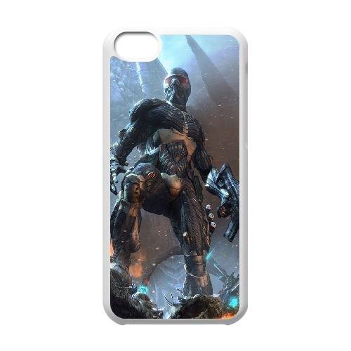 Crysis coque iPhone 5C Housse Blanc téléphone portable couverture de cas coque EBDXJKNBO16092