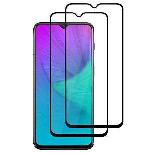 AceTend 【2 Pezzi】 OnePlus 6T Vetro Temperato, OnePlus 6T Pellicola Protettiva 0,3mm HD Alta Trasparente/9H Durezza Resistente/Anti-Bolla/Anti-Scratch/Copertina 2.5D Completa