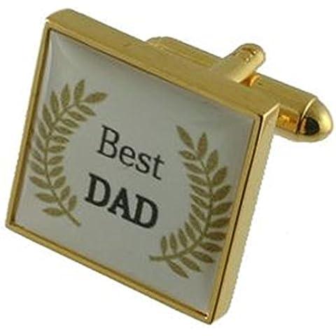 Mejores padres del papá Gemelos ~ enlaces Día Besest papá Gemelos Gemelos ~ Oro Negro papá